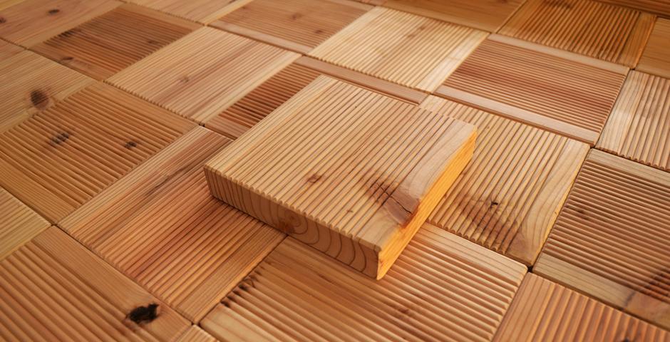 ウッディ工房の国産木材使用ウッドレンガ(176mmタイプ)