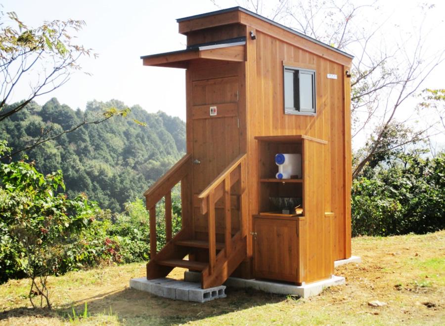 (福岡県みやま市) 清水公園山頂 バイオトイレ(平成27年10月22日設置)