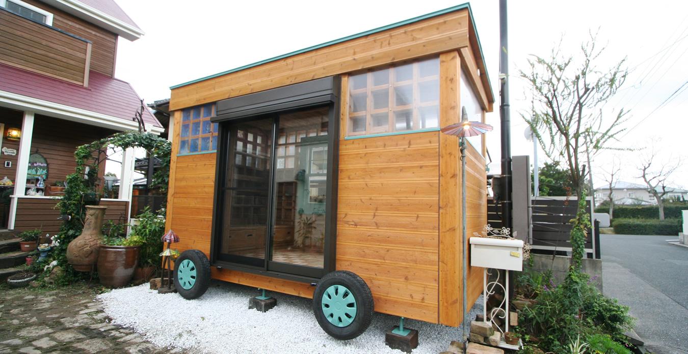 木造ユニットハウス前面撮影画像