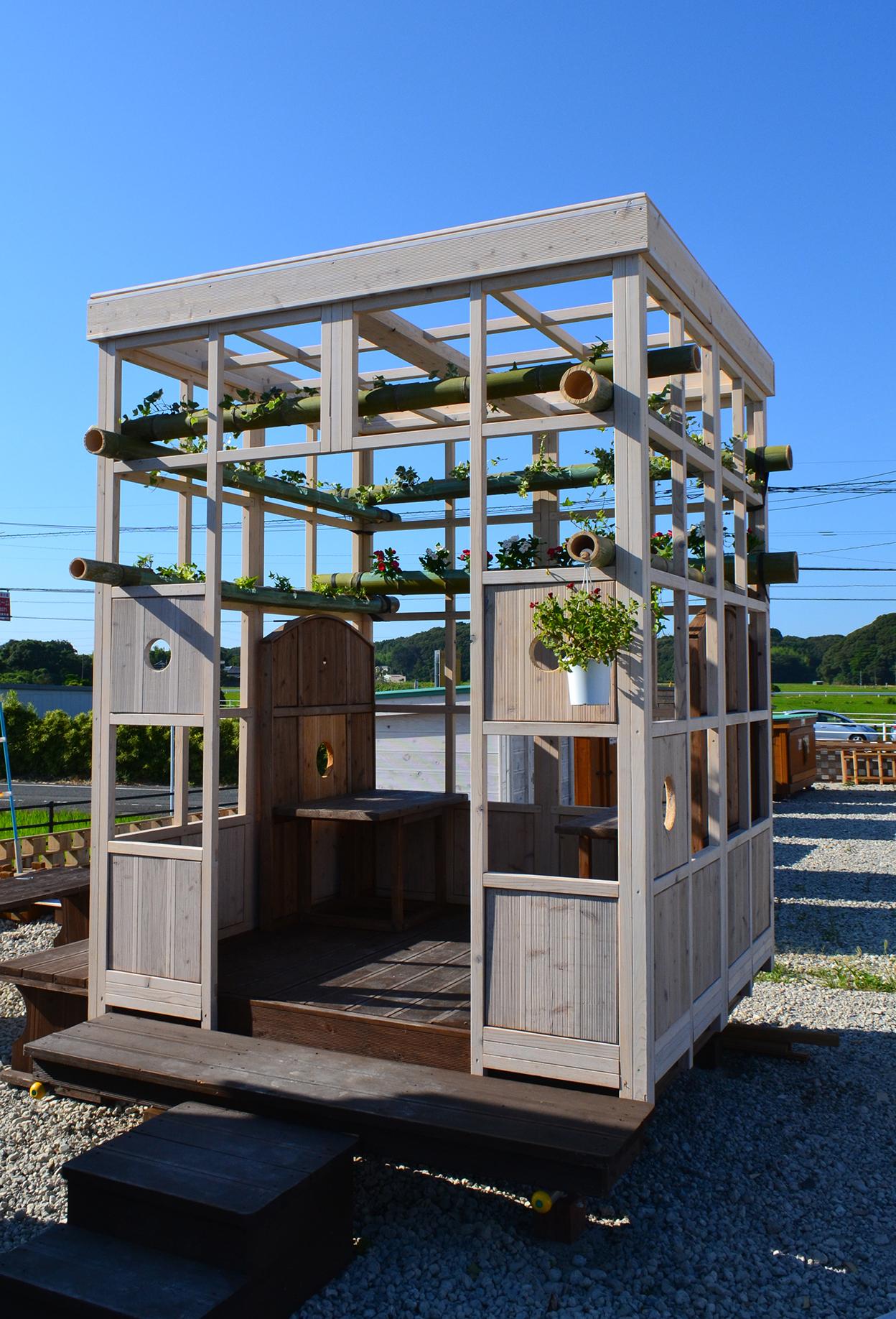移動式木造パーゴラ