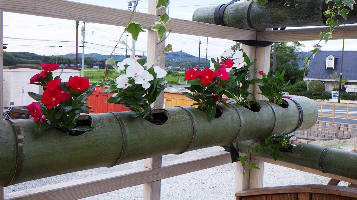 移動式木造パーゴラ 花